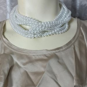 LISA FREEDE Faux Pearls Necklace
